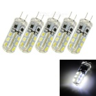 G4 1.5W 100lm 6000K 24-LED White Light Bulbs (DC 12V / 5 PCS)