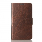 Flower Show Protective PU + PC Case w/Stand / Card Slots for Samsung Note 2 N7100 - Dark Coffee