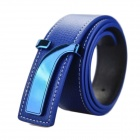 Leisure Fashionable Business Split Leather Belt - Deep Blue
