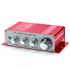 Kentiger TZ-2002 2-Channel Hi-Fi Car Stereo Audio Amplifier w/ MP3 / DVD / VCD Input - Red + Silver