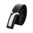 Leisure Fashionable Business Split Leather Belt - Black