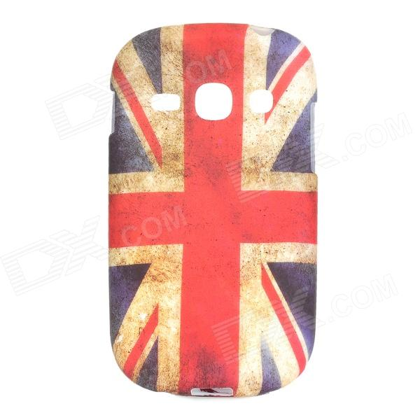 Retro UK National Flag Style Protective TPU Back Case for Samsung Galaxy Fame S6812 / S6810 - Red pirate owl pattern uk national flag style tpu case for samsung galaxy s4 mini i9190 red blue