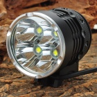 HASKY K4P 4 x Cree XM-L T6 3000lm 4-Mode White Bicycle Light - Black (4 x 18650)