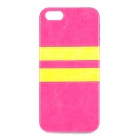 HHEC-263 Protective PU Leather + TPU Back Case for IPHONE 5 / 5S - Deep Pink