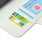 High Quality Leather Flip-Open Case w/ Card Slot / Stand for Samsung Galaxy Mega 6.3 i9200 - White