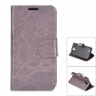 BAIYING TRE-1266 Stylish Protective PU Leather + PC Case for Samsung i9500 - Dark Purple