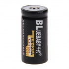 BL LR123A 1200mAh 3.6V Li-ion Rechargeable Battery - Black