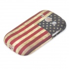 Retro US National Flag Style Protective TPU Back Case for Samsung Galaxy Fame S6812 / S6810 - Red