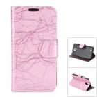 BAIYING TRE-1266 Stylish Protective PU Leather + PC Case for Samsung i9500 - Light Purple