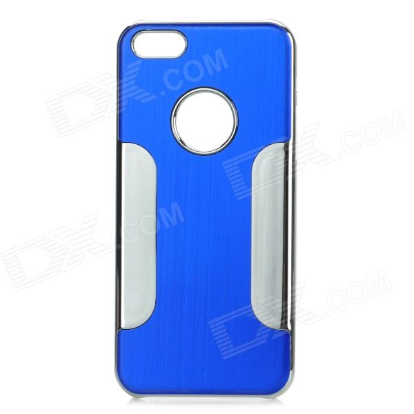 YTW-182 Protective PC + Alloy Back Case for IPHONE 5C - Blue + Silver