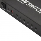 2-to-4 Full HD 1080P w/ Deep Color HD Audio 3D HDMI Splitter / Aux / SPDIF - Black (2-In-4-Out)