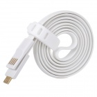 Y-MT2 Micro 5pin Charging / Data Flat Cable for Cellphones - White (95cm)