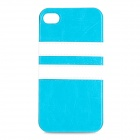 HHEC-262 Protective PU Leather + TPU Back Case for IPHONE 4 / 4S - Blue