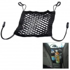 WN205 Hanging Hook Nylon Mesh Storage Bag for Car - Black