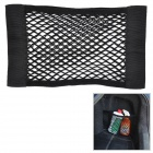 Hanging Velcro Nylon Mesh Storage Bag for Car - Black
