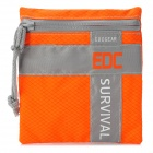 EDCGEAR Water Resistant Outdoor Survival Pouch Bag - Orange