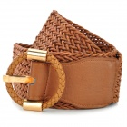 Weaving Waist Belt for Women - Brown + Coppery