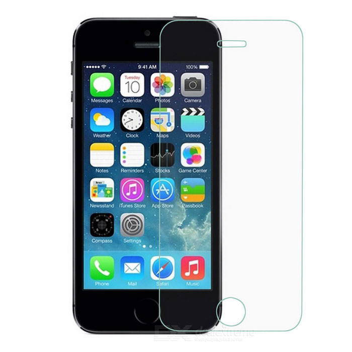 KXD Protective Tempered Glass Screen Protector for IPHONE 5 / 5S - Transparent glasto 9h clear tempered glass screen protector for iphone 5 5s golden transparent