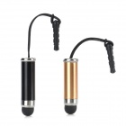 Stylus Pen w/ Strap / Anti-dust Plug for Lover - Black + Golden