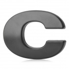 "Unique ""C"" Style Chrome Plated Car Sticker - Black"