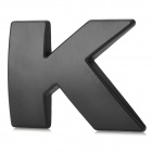 "Unique ""K"" Style Chrome Plated Car Sticker - Black"