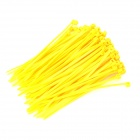 Self-lock Nylon Cable / Wire Ties - Yellow (100 PCS / 10cm)
