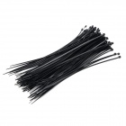 Self-lock Nylon Cable / Wire Ties - Black (100 PCS)