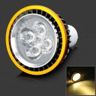 GU10 5W 550lm 3500K Warm White 5-LED Light Bulb - Black + Golden (AC 85~265V)
