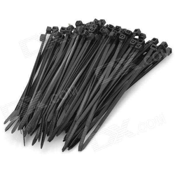 2.5 x 100mm Self Locking Nylon Cable Zip Ties - Black (100 PCS)
