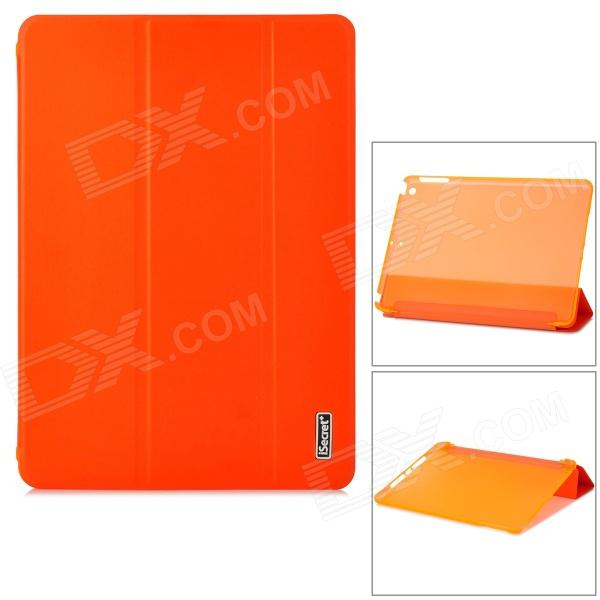 iSecret SSLCIP5XXORC Ultra-Slim PU Smart Case w/ PC Translucent Back / Stand for IPAD AIR - Orange