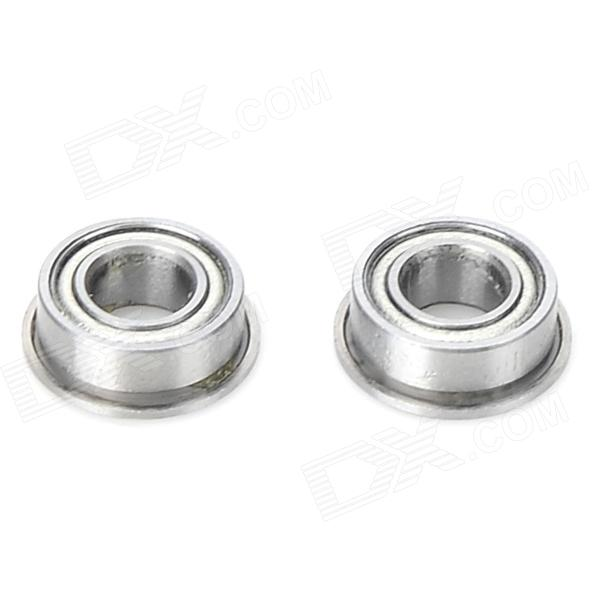 F1055ZZ DIY Steel Ball Bearings for Model / Toy / Robot - Silver (2 PCS) mf126zz flange bearing 6x12x4 mm abec 1 10 pcs miniature flanged mf126 z zz ball bearings