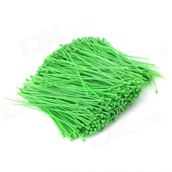 Self-lock Nylon Cable / Wire Ties - Green (1000 PCS)
