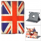 Flag of UK Pattern 360 Degree Rotatable PU Case w/ Stand for Amazon Kindle Fire HDX7 - White + Blue