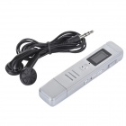 "807 0.7"" Screen USB 2.0 Digital Voice Recorder w/ Speaker - Silver"