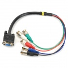 VGA Female to BNC Male Cable - Black + Red + Multi-Colored (55cm)