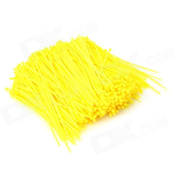 Self-lock Nylon Cable / Wire Ties - Yellow (1000 PCS)