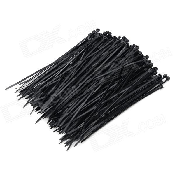 Self-lock Nylon Cable / Wire Ties - Black (200 PCS)