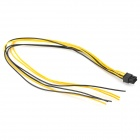 DIY ABS 6-Pin Power Modified Terminal Cable - Black + Yellow (52cm)