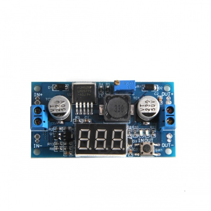 "DC-DC LM2577 0.45"" 3-digital Voltage Step Up Boost Module - Deep Blue"