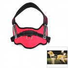 LIT Stylish Harness for Dog / Guide Dog - Red + Black (Size L)