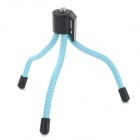 "Universal Mini Portable Desktop Flexible Leg 1/4"" Tripod for Camera - Light Blue + Black"