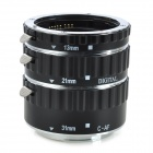 KWEN CN-T1 Macro Extension Tube Set for Canon - Black