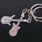 DEDO MG-70 Lover Bass Guitar Zinc Alloy Keychain - Silver (2 PCS)