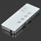 601 Mini Portable 8GB Digital Voice Recorder w/ U Disk / MP3 / Headphone - White