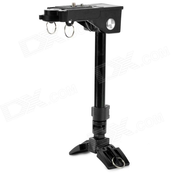 "Multi-Functional Aluminum Alloy 1/4"" Folding Camera Mount Holder Stand - Black"