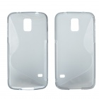 "Creative ""S"" Style Protective TPU Back Case for Samsung Galaxy S5 - Translucent Grey"
