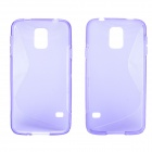 "Creative ""S"" Style Protective TPU Back Case for Samsung Galaxy S5 - Translucent Purple"