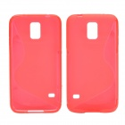 "Creative ""S"" Style Protective TPU Back Case for Samsung Galaxy S5 - Red"