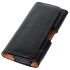Creative Waist-hanging Polished Protective PU Leather Case for Samsung Galaxy S5 - Black