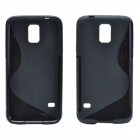"Creative ""S"" Style Protective TPU Back Case for Samsung Galaxy S5 - Black"